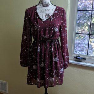 rue21 Dress | Heart Pattern | Long Sleeves